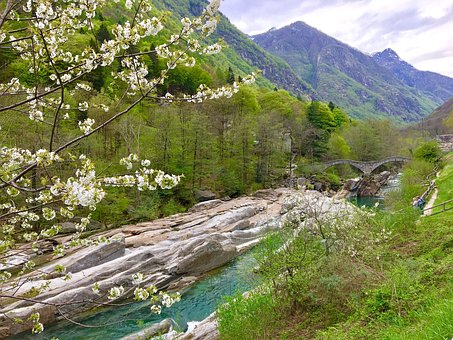 Nature, Waters, Landscape, Mountain, River