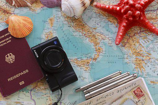 Travel, Preparation, Map, Italy, Greece, Mediterranean
