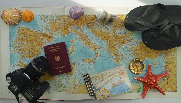 Travel, Preparation, Map Of Europe, Mediterranean