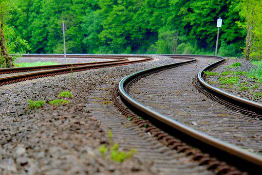 Railway Line, Railway, Train, Rail, Track