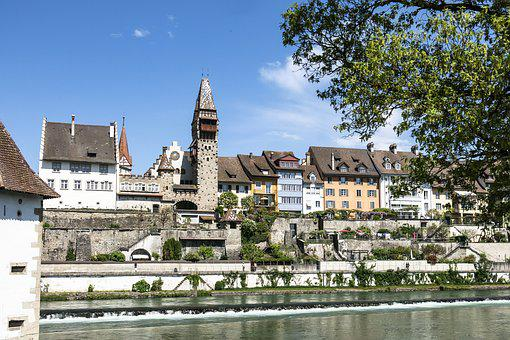Architecture, Old, River, Reuss, Sky, Church, Tourism