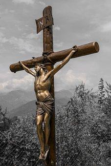 Cross, Religion, Deity, Spirituality, Sculpture