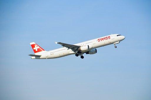 Aircraft, Jet, Swiss, Airbus, Travel, Flight, Holiday