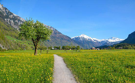 Hiking, Alpine, Landscape, Switzerland, Tourism, Glarus