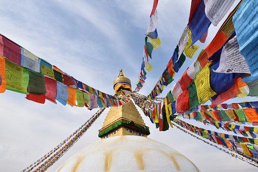 Nepal, Travel, Temple, Prayer Flags