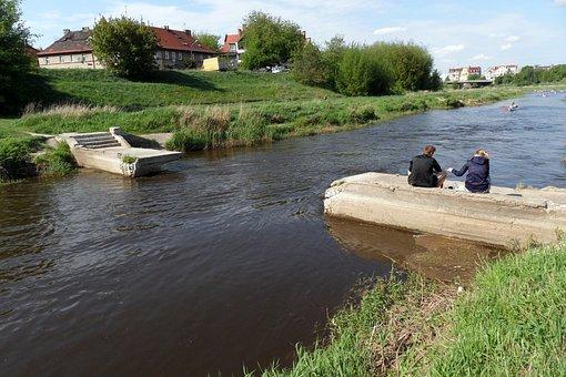 River, Poznan, Bridge, Feelings, People, Water, Green