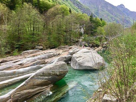Nature, Waters, Rock, Landscape