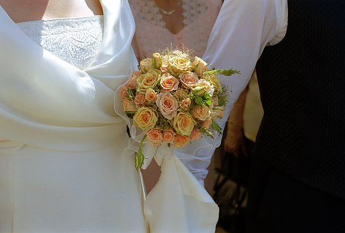 Wedding, Bride, Bouquet, Groom, Marriage