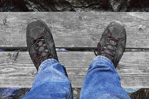 Shoe, Foot, Wooden Boards, Web, Gorge, Clammy, Footwear