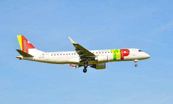 Aircraft, Jet, T, Embraer, Travel, Portugal, Fly, Wing