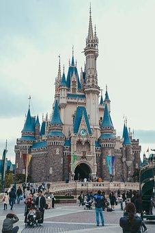 Architecture, Travel, City, Building, Disneyland Tokyo