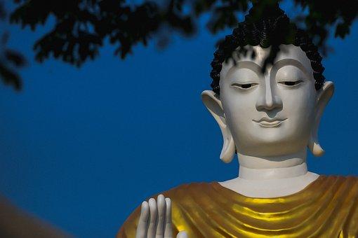Statue, Sculpture, Buddha, Sky, Art
