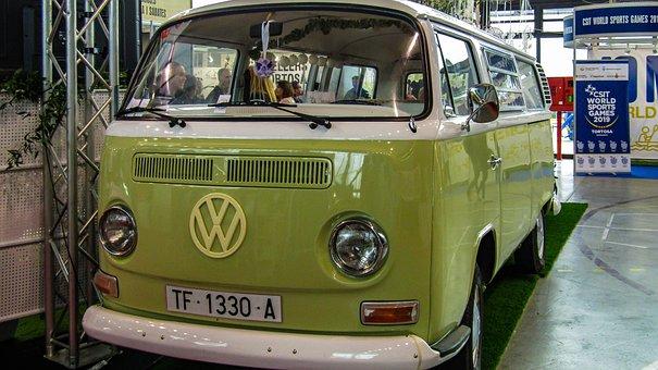 Automobile, Vehicle, Transport, Bus, Wheel, Volkswagen