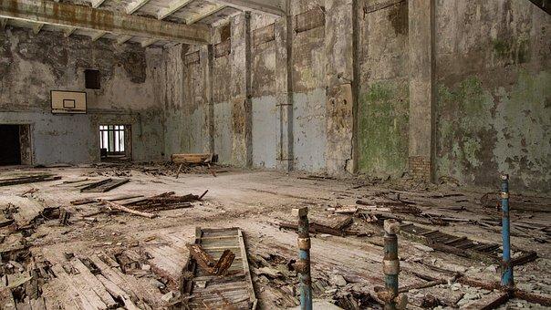 Gym, Pripyat, Decay, Equipment, Sport, Basketball