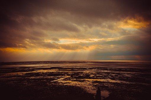 Sunset, Dawn, Dusk, Sun, Water, Sea, Nature, Sky, Beach
