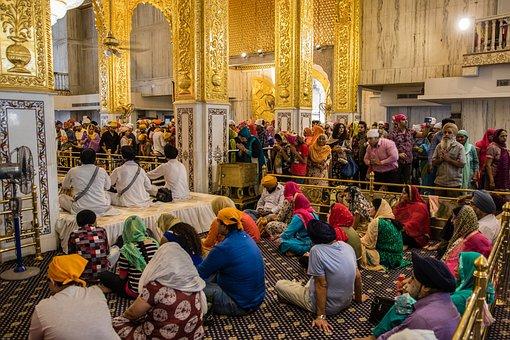 India, Delhi, Sikh, Sikh Temple, Believe, Hindu, Human
