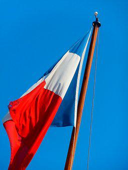 Flag, France, Air, Red, Blue, French
