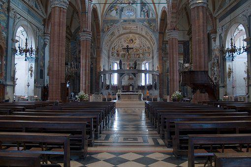 Church, Bank, Religion, Altar, Cathedral, Within