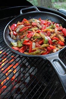 Heat, Cooking, Food, Hot, Pan, Mexican Food, Fajitas