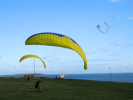 Sky, Parachute, Wind, Glider, Freedom, Summer, Leisure
