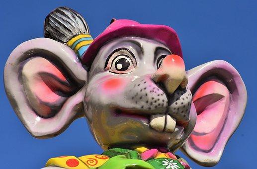 Mouse, Figure, Hustle And Bustle, Festival, Funny, Fun