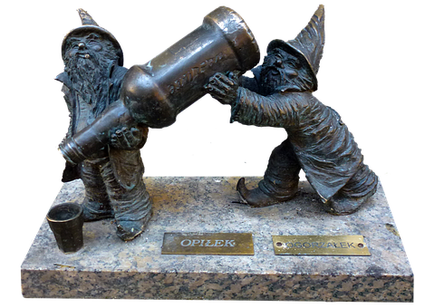 Gnome, Poland, Wroclaw, Crafts, Statue Bronze