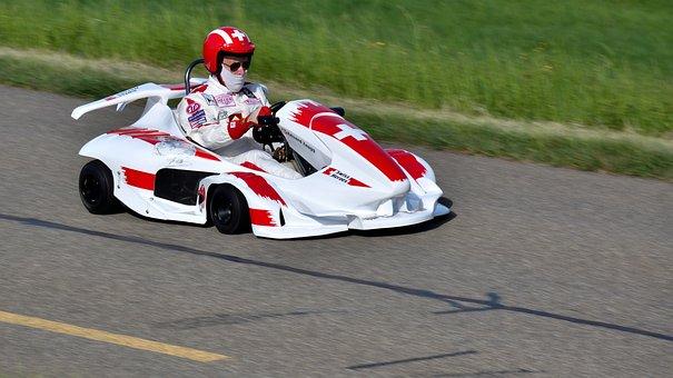 Go Kart, Hillclimb, Motorsport, Cards Driver, Road