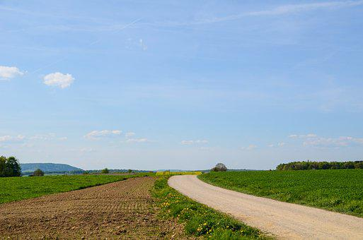 Landscape, Road, Away, Dawn, Target, Rest, Idyll, Sky