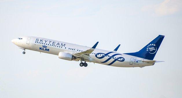 Aircraft, Jet, Klm, Skyteam, Travel, Boeing, 737