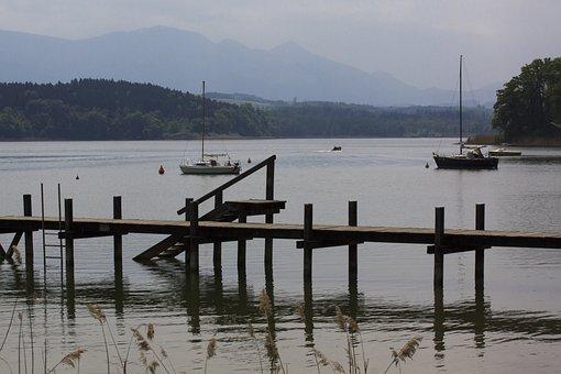 Waters, Reflection, Lake, Pier, Travel, Landscape