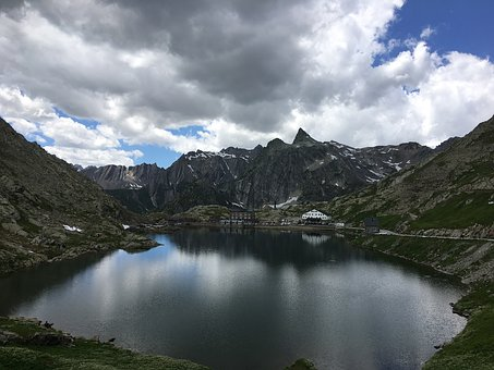 Body Of Water, No Person, Mountain, Lake