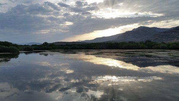 Body Of Water, Nature, Panoramic, Sky, Outdoors, Lake