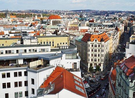 Panorama, Prague, Czechia, City, Cityscape, Travel