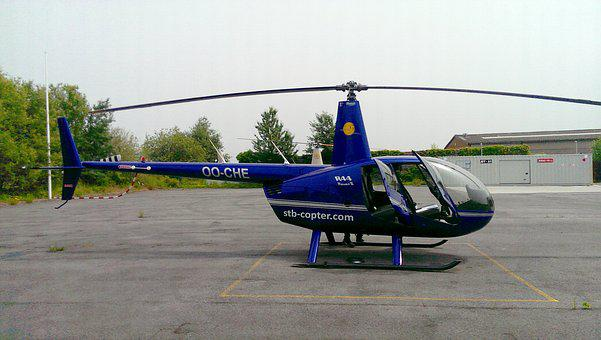 Helicopter, R 44, Robinson 44, Aviation, Pilot