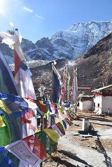 Nepal, Travel, Temple, Prayer Flags, Himalayas