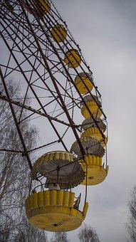 Pripyat, Carousel, Ferris Wheel, Theme Park, Fairground