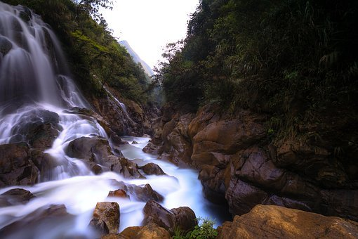 Vietnam, Sa Pa, Lao Cai, The Waterfall, Forest, Village