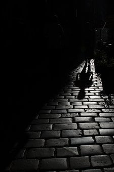 Darkness, Stone, Human, Light, Black And White, Shadow