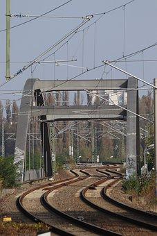 Snake Line, Rails, Railway, Train, Bridge, Railway Line