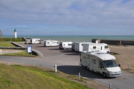 Camping Car, Travel, Horizontal, Outdoor, Sky