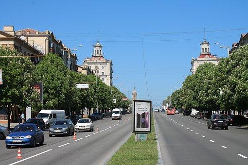 Prospekt Lenina, Ukraine, City, Zaporozhye, Travel