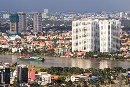 The City, Ho Chi Minh, The Street, Vietnam, Saigon, Sky