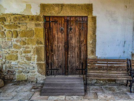 Wooden, Door, Wall, Church, Old, Architecture, Exterior