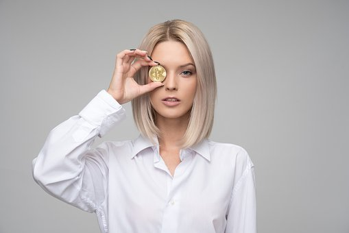 Woman, Young, Adult, Finance, Cryptocurrency, Bitcoin