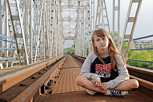 Bridge, Modern, River, Steel, Arch Bridge, Girl