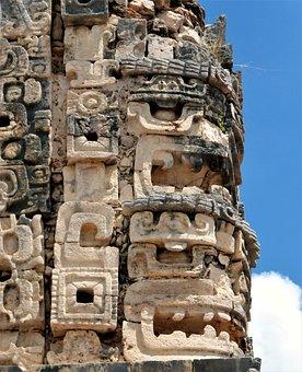 Sculpture, Architecture, Mexico, Antique, Travel