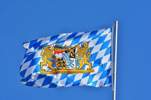 Flag, Bavaria, Bavarian Flag, Regions, Blow, Hoist