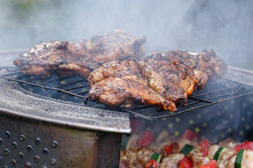 Grill, Burn, Flames, Heat, Meat
