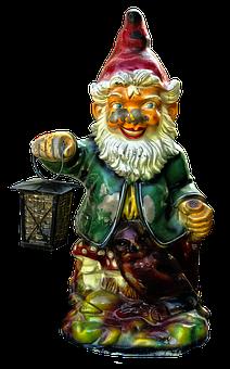 Garden Gnome, Imp, Lantern, Dwarf, Historically, Figure