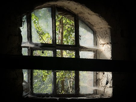 Window, Abandoned, Old, No One, Lake Dusia